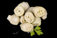 Artichokes-and-olive-oil Stock Photography