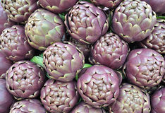 Artichokes of Roma, Italy. Food background stock photo