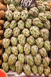 Artichokes Stall Royalty Free Stock Photo