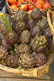 Artichokes and tomatoes, Italy Stock Images