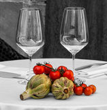 Artichokes and tomatoes Stock Photos