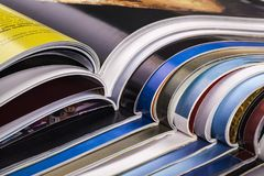 Article. Business communication finance global communications heap magazine Royalty Free Stock Image