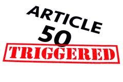 ARTICLE 50 DÉCLENCHÉ Images libres de droits