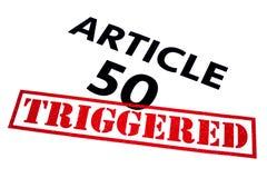 ARTICLE 50 DÉCLENCHÉ Image stock