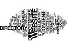 Article Directories Add Value Word Cloud Concept. Article Directories Add Value Text Background Word Cloud Concept Royalty Free Stock Photo