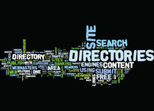 Article Directories Play An Important Role In Seo Strategy Word Cloud Concept Royalty Free Stock Images