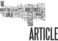 Article Directories Ten Great Reasons To Submit Articles To Them By Keith P Stieneke Word Cloud Royalty Free Stock Photography