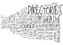 Article Directories Word Cloud Concept Royalty Free Stock Photos