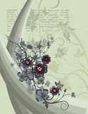 Article floral background Stock Image