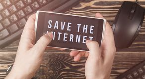 Article 13 l'amendement aux matériaux interdits par législation de l'UE de médias sur l'Internet image libre de droits