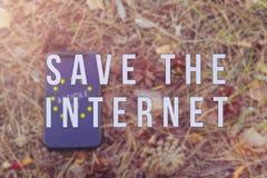 Article 13 l'amendement aux matériaux interdits par législation de l'UE de médias sur l'Internet image stock
