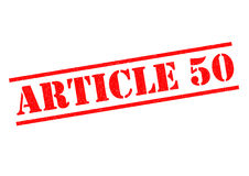 ARTICLE 50 Rubber Stamp Stock Photo