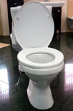 Article of the sanitary engineering. Toilet with the opened lid Royalty Free Stock Photo