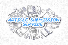 Article Submission Service - Business Concept. vector illustration