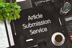 Article Submission Service Concept. 3D render. royalty free illustration
