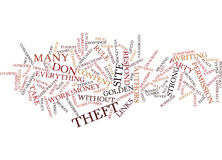 Article Theftwhat To Do About It Word Cloud Concept royalty free stock images