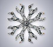Articles automatiques de pièces de rechange dans la clé Photos stock