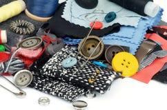 Articles de couture Photographie stock libre de droits