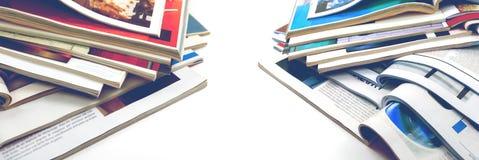 Articles de mode et conception de catalogue au-dessus du fond blanc images stock