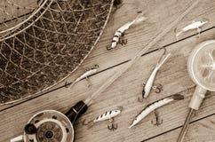 Articles de pêche et accessoires Photographie stock