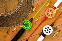 Articles de pêche et accessoires Photos stock