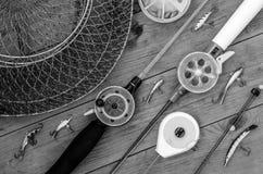 Articles de pêche et accessoires Photographie stock libre de droits