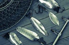 Articles de pêche et accessoires Images stock