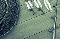 Articles de pêche et accessoires Photo stock