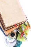 Articles de pêche et amorces extérieurs avec des livres Images libres de droits