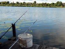 Articles de pêche pour les cannes à pêche, flotteurs Photos stock
