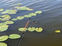 Articles de pêche pour les cannes à pêche, flotteurs Images stock