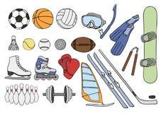 Articles de sport réglés Photos stock