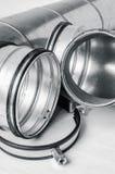 Articles de système de ventilation sur le fond blanc Photo stock