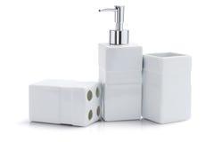 Articles de toilette distributeur et récipients Photo libre de droits