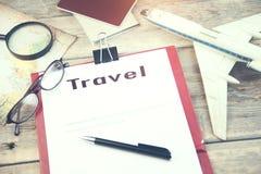 Articles de voyage photo stock