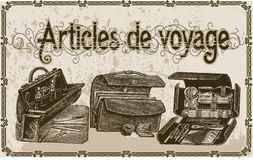 Articles de voyage. Old and vintage items for departure Royalty Free Stock Images
