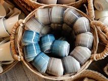 Articles en céramique de vaisselle photographie stock libre de droits