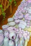 Articles en céramique sous la production Image libre de droits