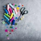 Articles pour la couture Photos stock