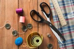 Articles pour la couture ou le DIY Photo stock