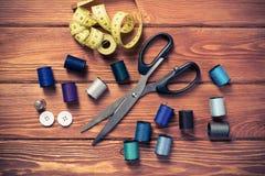 Articles pour la couture ou le DIY Image libre de droits