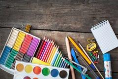 Articles pour la créativité des enfants photo libre de droits