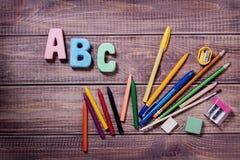 Articles pour la créativité des enfants photographie stock