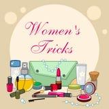 Articles réglés de cosmétique Photo stock