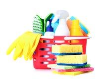 Articles sanitaires, approvisionnements de nettoyage de ménage d'isolement photo libre de droits