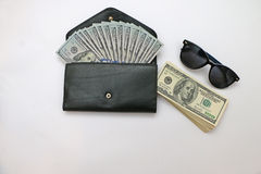 Articles of daily use of bills Stock Photo