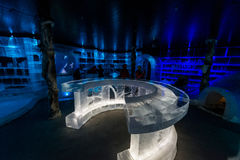 Artico冰酒吧在Honningsvag,挪威 库存图片