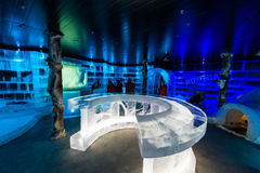 Artico Ice Bar in Honningsvag, Norway Stock Images