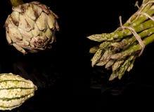 Articoke και aspargus Στοκ Εικόνα
