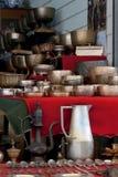 Articoli d'ottone antichi asiatici Fotografia Stock